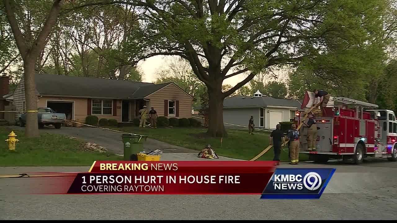 A woman was fighting for her life Thursday after a house fire in Raytown.
