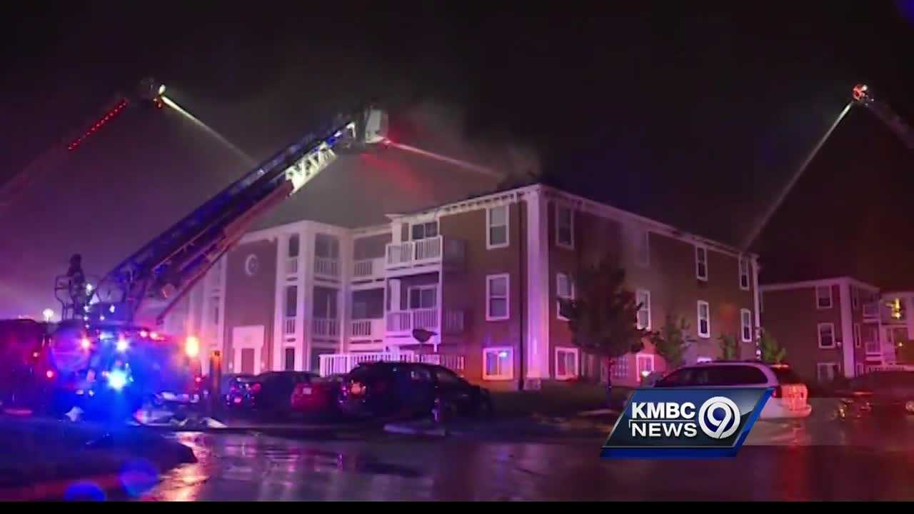 While some residents thought lightning may have sparked a big fire at an Olathe apartment complex overnight, investigators said the nearest bolt strike was a mile away.