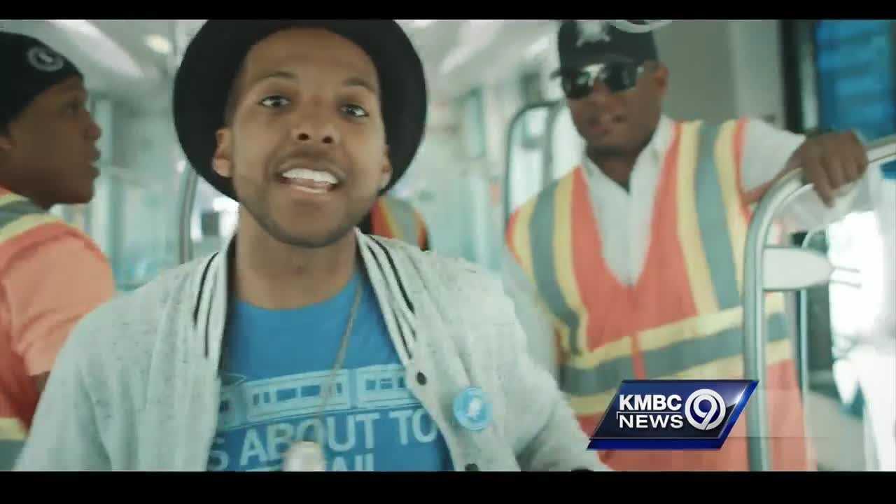 Kemet the Phantom filmed a new music video on one of Kansas City's new streetcars.