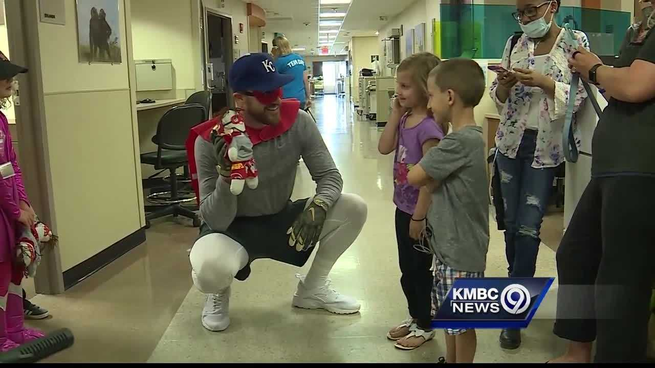 A 2-year-old boy who celebrated National Super Hero Day with Chiefs star Travis Kelce is the real hero in the eyes of his mom.
