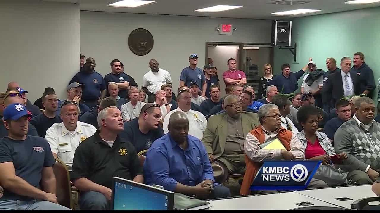Sparks are flying as Kansas City, Kansas, debates changing how firefighters are compensated.
