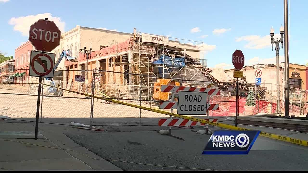 A Liberty building that collapsed early Tuesday is so badly damaged that it will be demolished as early as Wednesday.