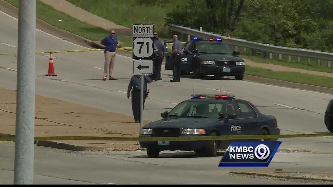 The Tonganoxie man suspected in the fatal shooting of a Kansas City, Kansas, police detective was injured in a shootout with Kansas City, Missouri, police officers Monday afternoon.