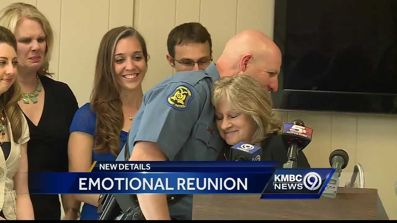 A Cass County woman who survived a crash earlier this year was reunited with the Missouri State Highway Patrol trooper who saved her life.