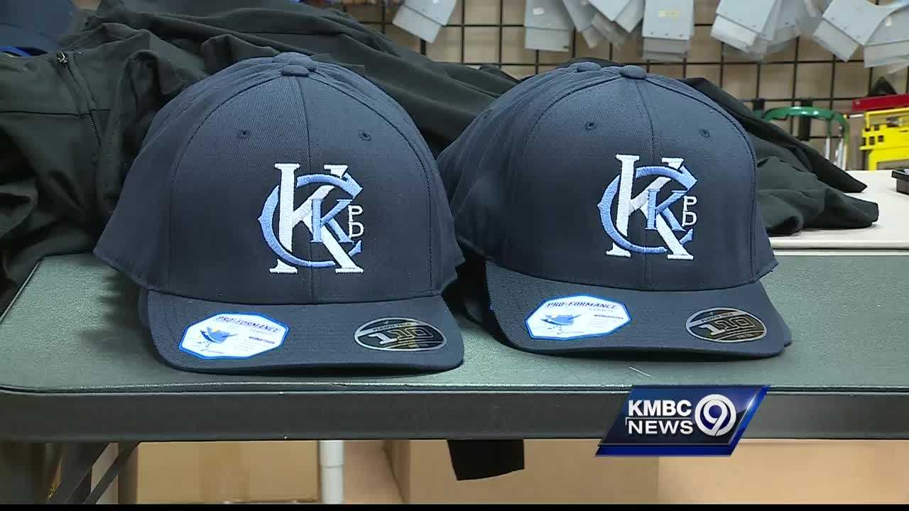 Cumpy's Sports and Apparel shop creates a tribute hat to honor a fallen Kansas City, Kansas, police detective.