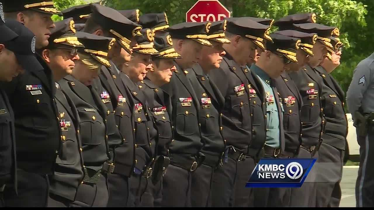 A solemn ceremony at Kansas City Police Headquarters on Thursday honored the officers who were killed in the line of duty.