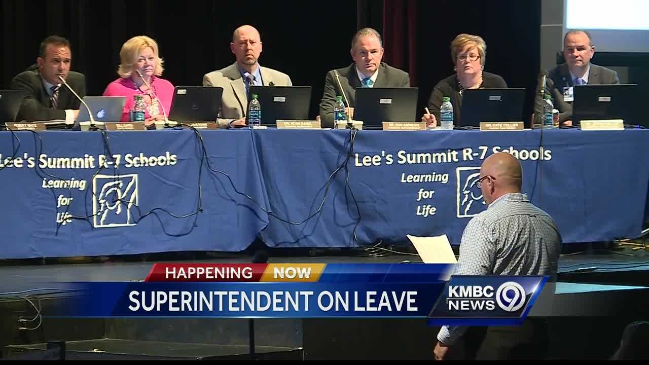 The Lee's Summit School Board votes Thursday to place Superintendent David McGehee on paid administrative leave.
