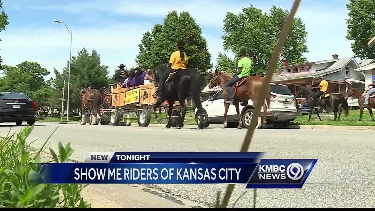 Members of the Show-Me Riders of Kansas City returned to inner-city neighborhoods on Sunday with a message of peace.