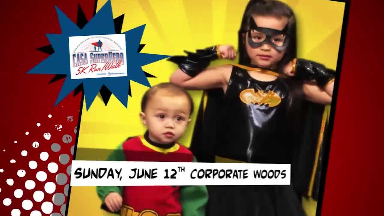 Take part in the 3rd Annual CASA SuperHero 5K run, walk on June 12 at Corporate Woods in Overland Park.