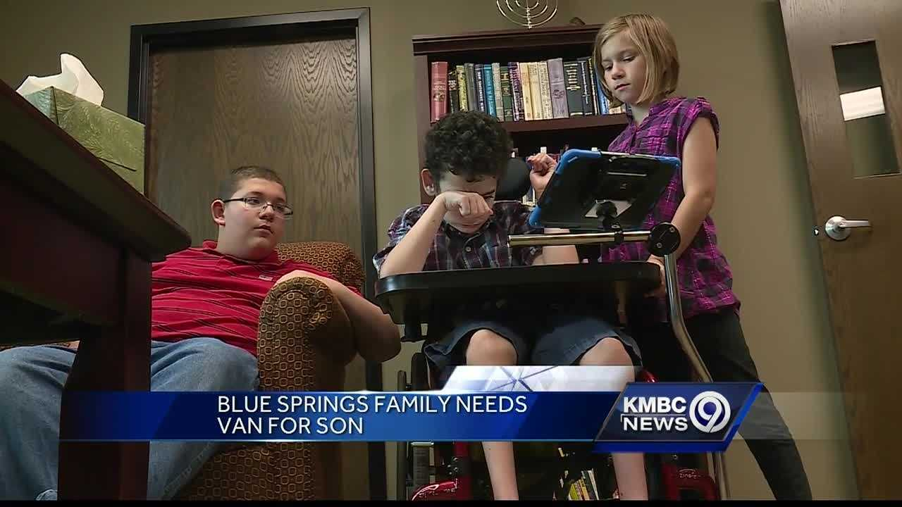 A Blue Springs family is in the running to win a handicap-accessible van.