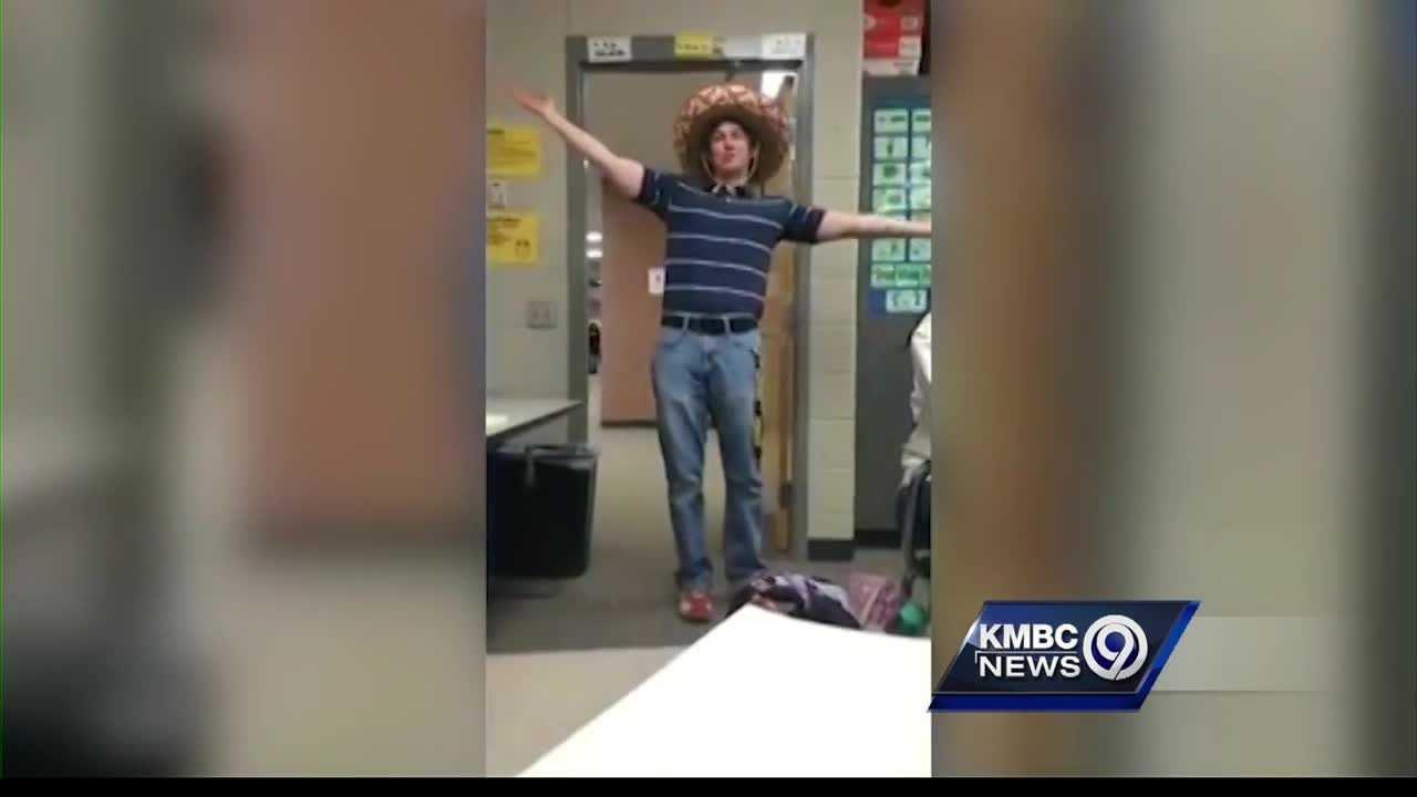 A high school Spanish teacher in Kansas City, Kansas, has become a viral sensation because he knows how to make an entrance.