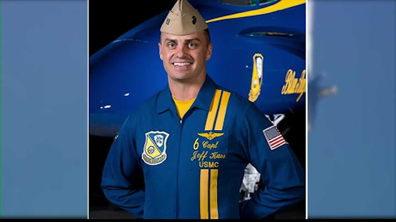 The Blue Angels pilot who died in a crash in Tennessee Thursday was part of the Kansas City Air Show last summer.
