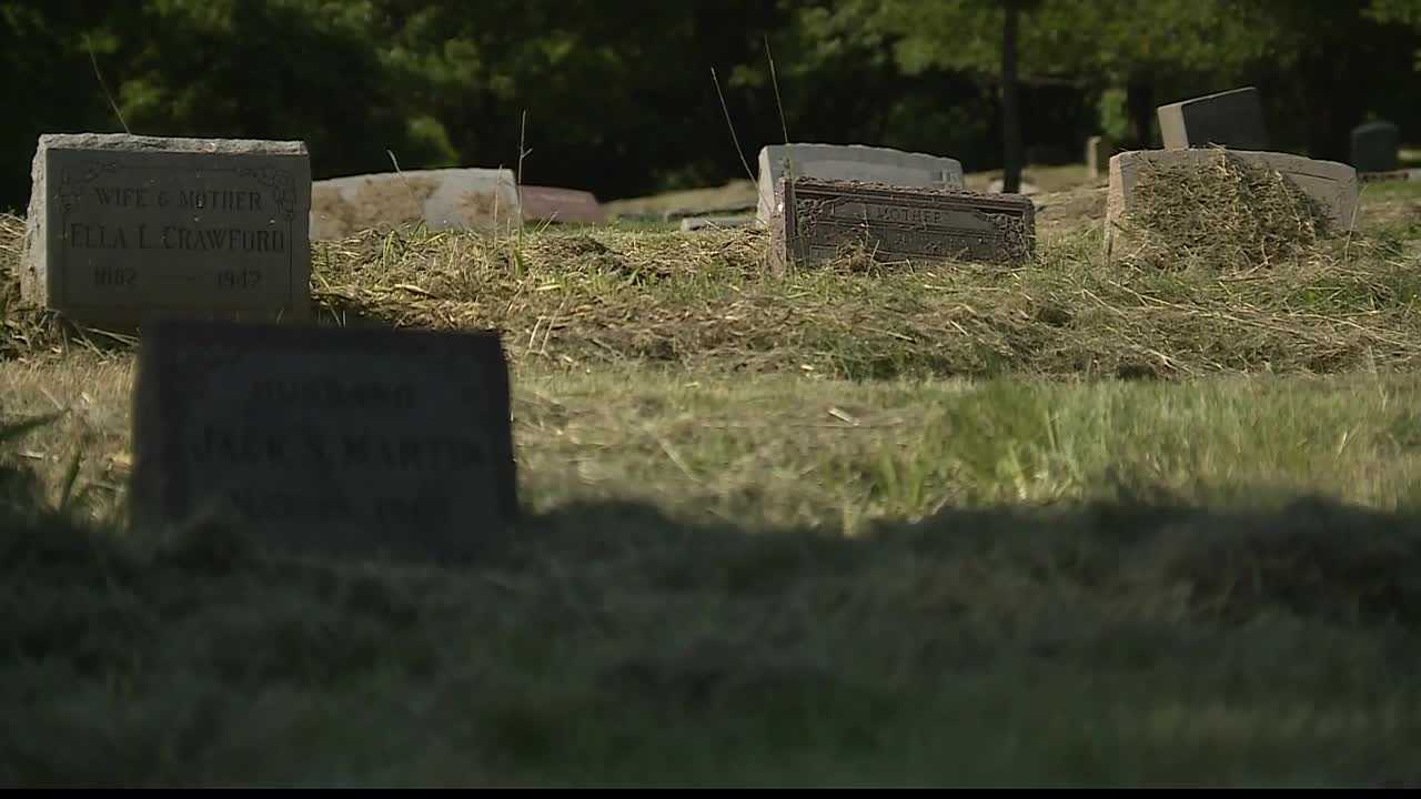 A Kansas City-area cemetery that had been overgrown with weeds and grass last week is in better condition now.