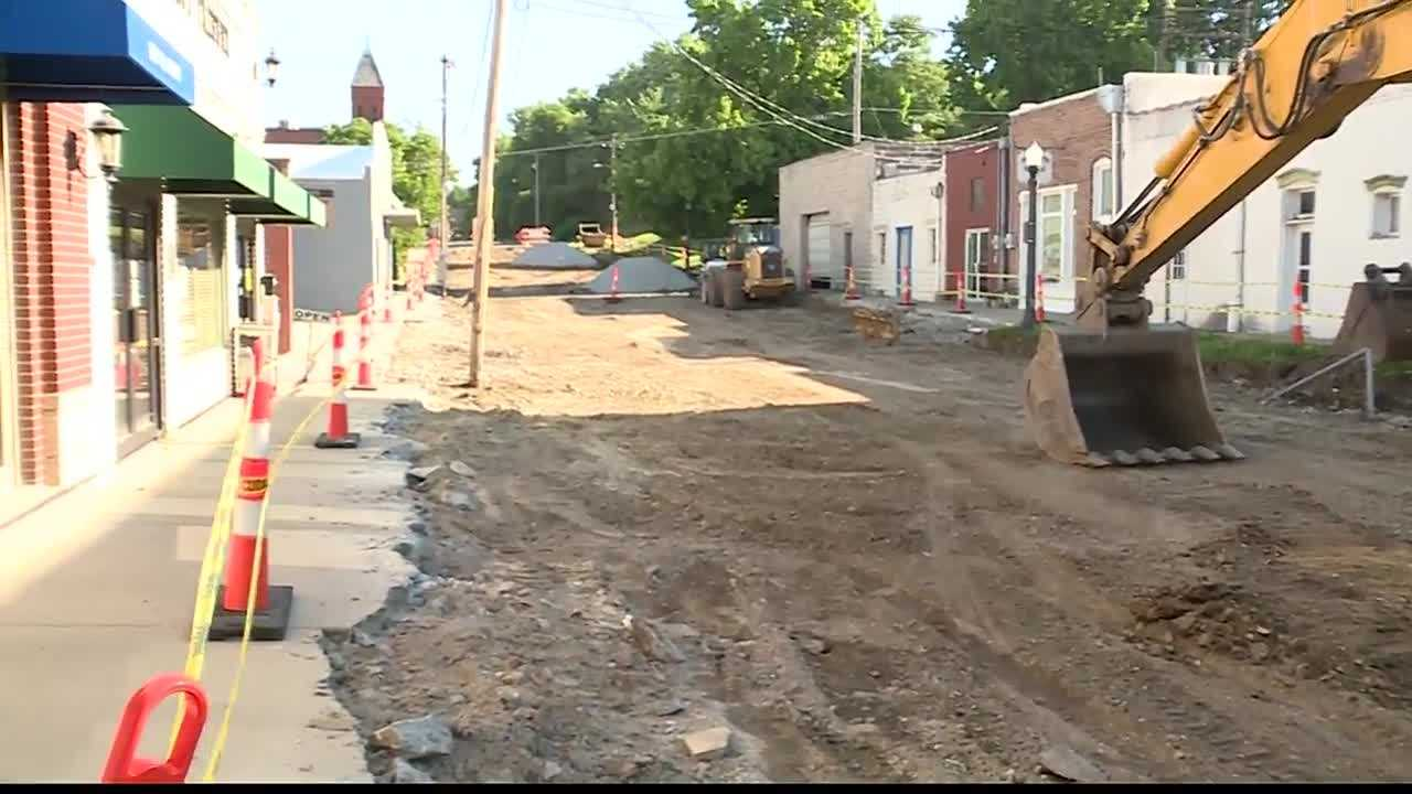 Work has begun on a big project to overhaul Liberty's historic square.