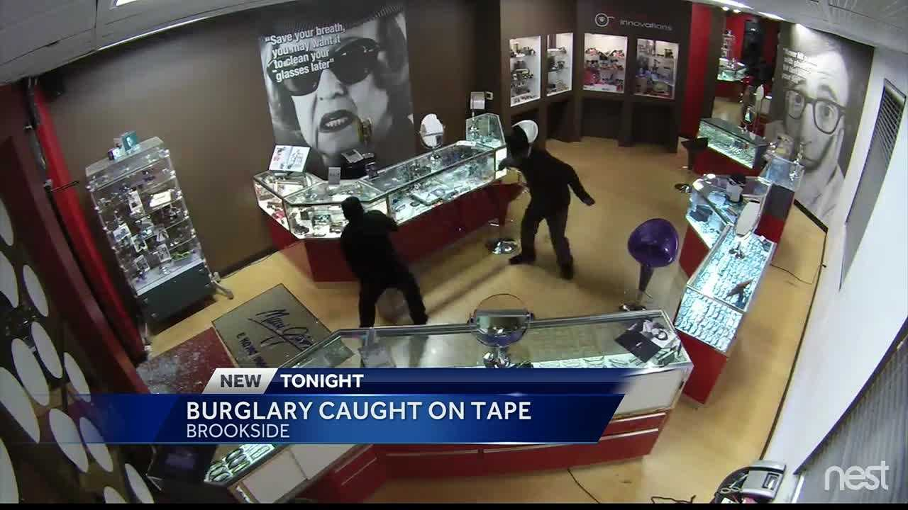 The owner of a Brookside optical store hopes the public can help police find two people wanted in connection with a burglary.