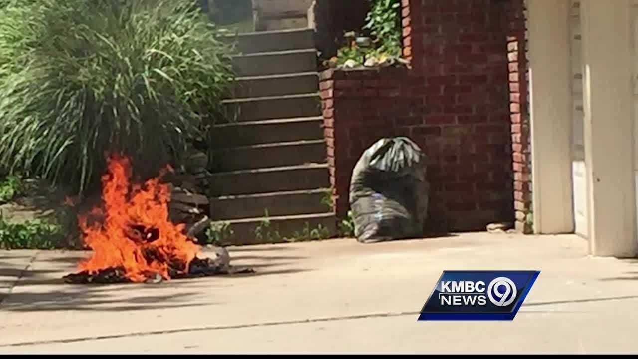 Alert postal carrier helps keep fire from spreading to Liberty home