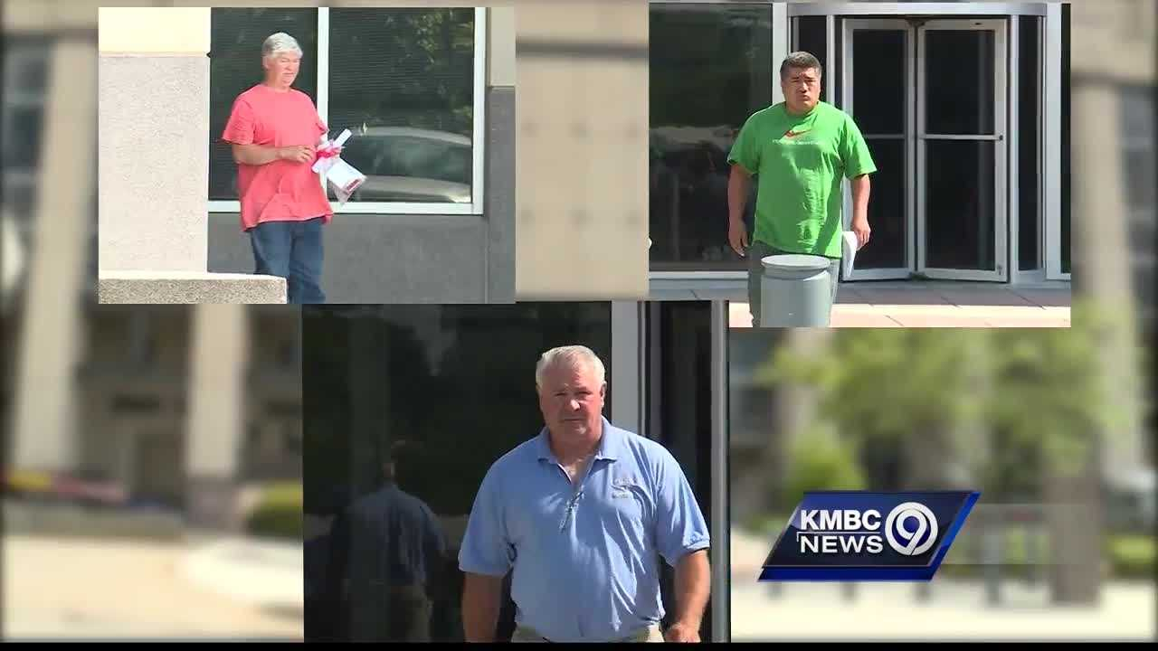 Three men have pleaded not guilty to federal charges of running a forced labor ring at a Kansas City, Kansas, roofing company.