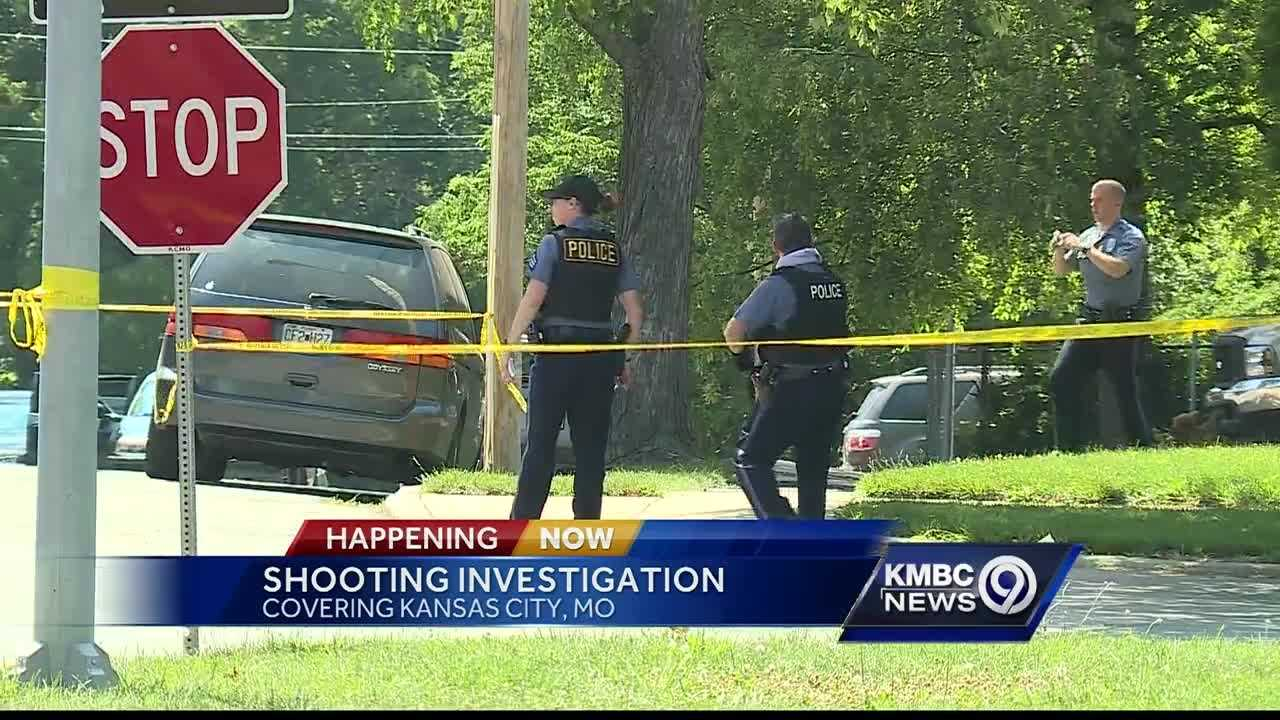 Police say they're investigating after someone apparently fired multiple shots into a vehicle in a Kansas City neighborhood Sunday afternoon.