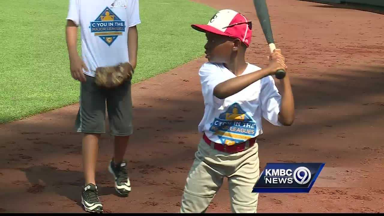 The Kansas City Royals hosted their second annual baseball clinic at Kauffman Stadium.
