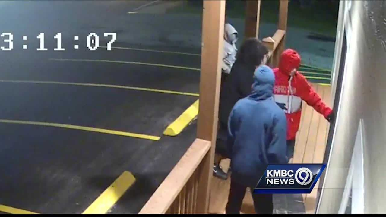 Four young men attempted to break into a Raytown gun store early Tuesday morning, according to the store.