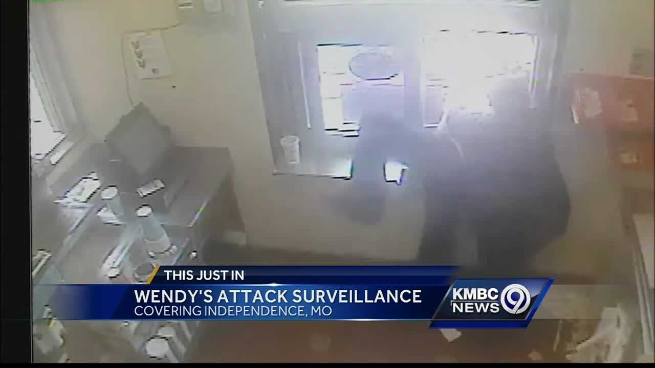 Police have released new surveillance video of an attack on a pregnant Wendy's manager in Independence Sunday.