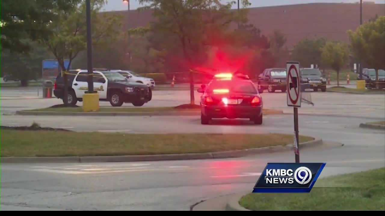 Olathe, Kansas police are searching for a 15-year-old Monday morning after a man was shot in the chest overnight at an area Walmart store.