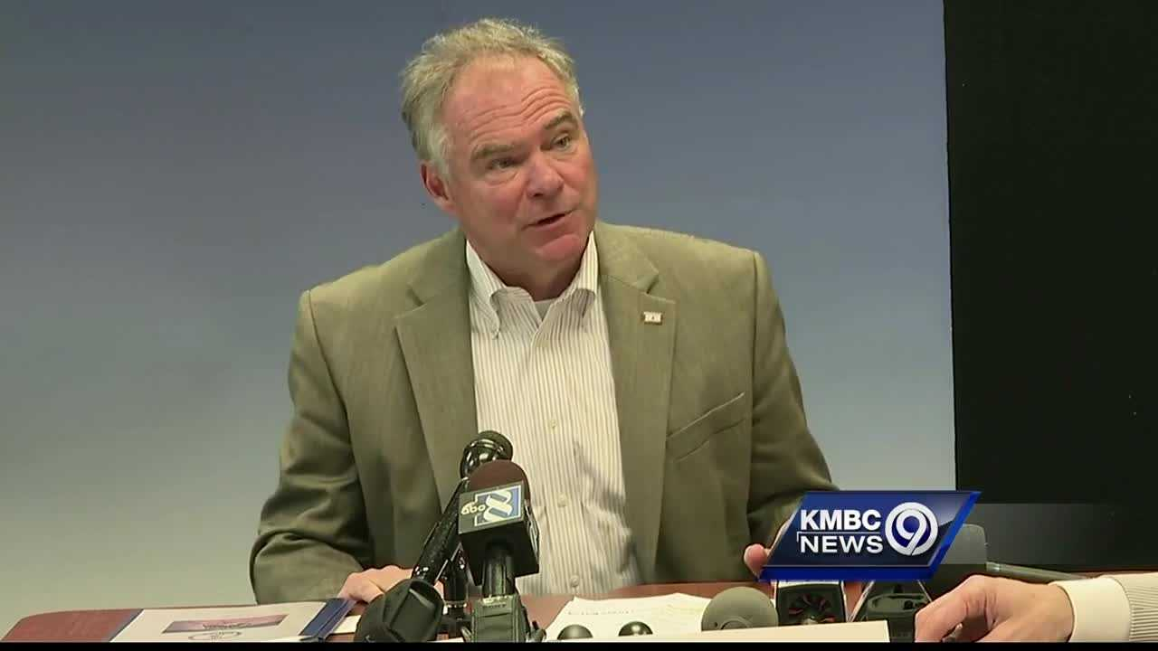 Virginia Sen. Tim Kaine, one of the Democrats mentioned as a potential running mate for Hillary Clinton, has strong connections to Kansas City.