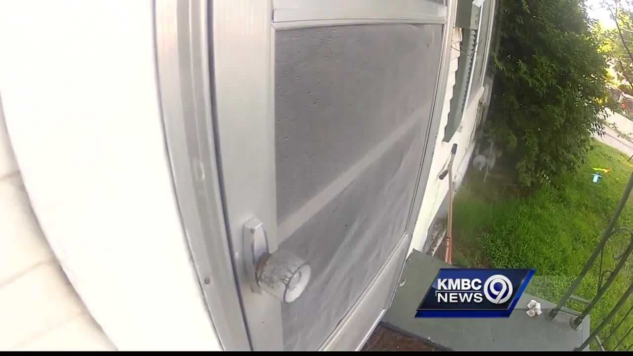 A Kansas City, Kansas, woman said a man invaded her home while she and her children slept.