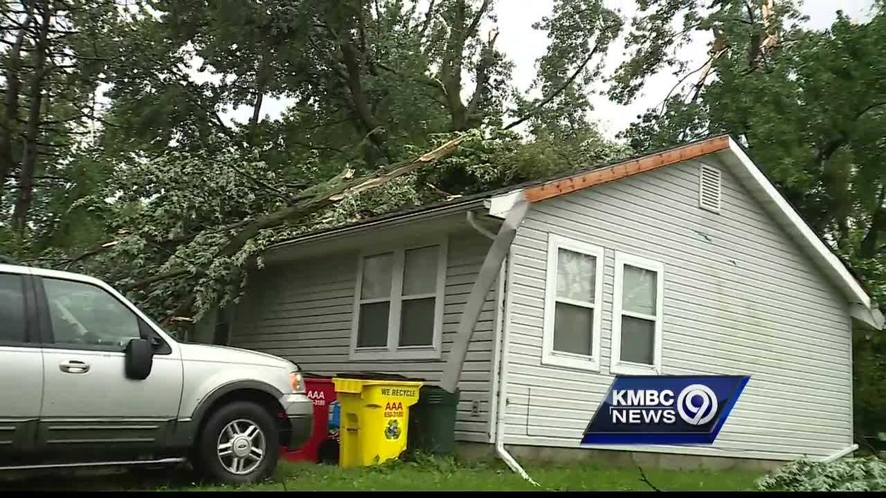 A microburst is suspected of causing damage to trees, fences and homes in Oak Grove early Thursday