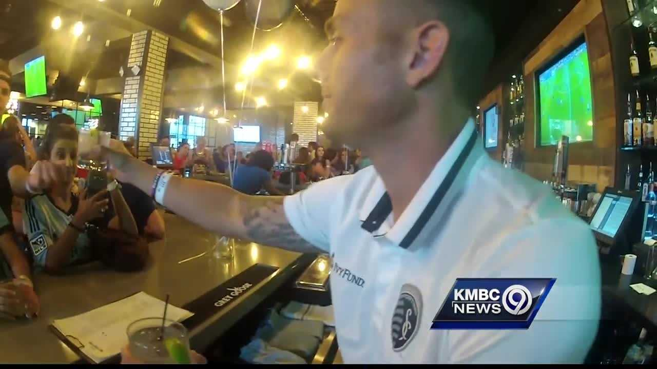 Sporting Kansas City celebrated last weekend's big win with a celebration at the Power & Light District Thursday night, but not the way you might think.