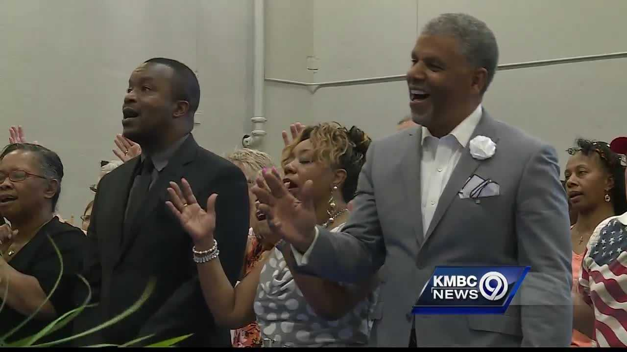 Representing more than than a dozen churches, pastors and members of their congregations gathered at the Kansas City Police Department's East Patrol to pray for unity Sunday evening.
