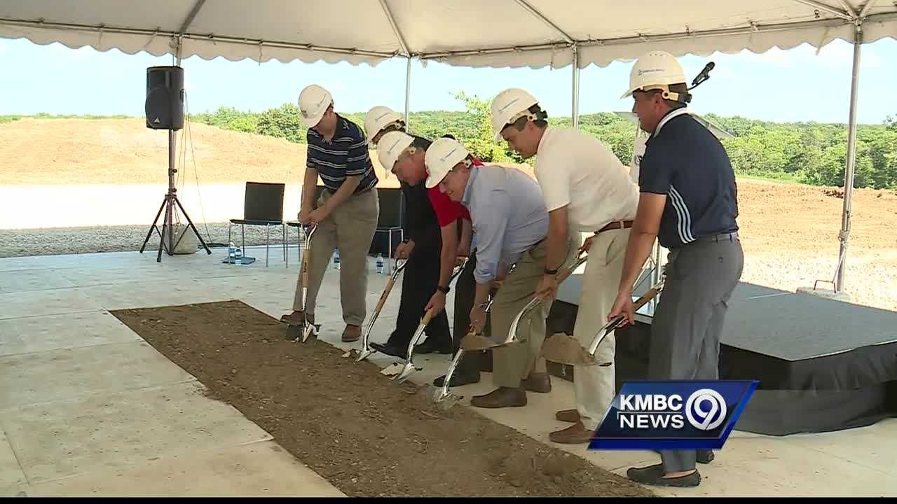 Officials broke ground Sunday on a new national soccer training center.