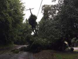 Storm damage in St. Joseph, Missouri.