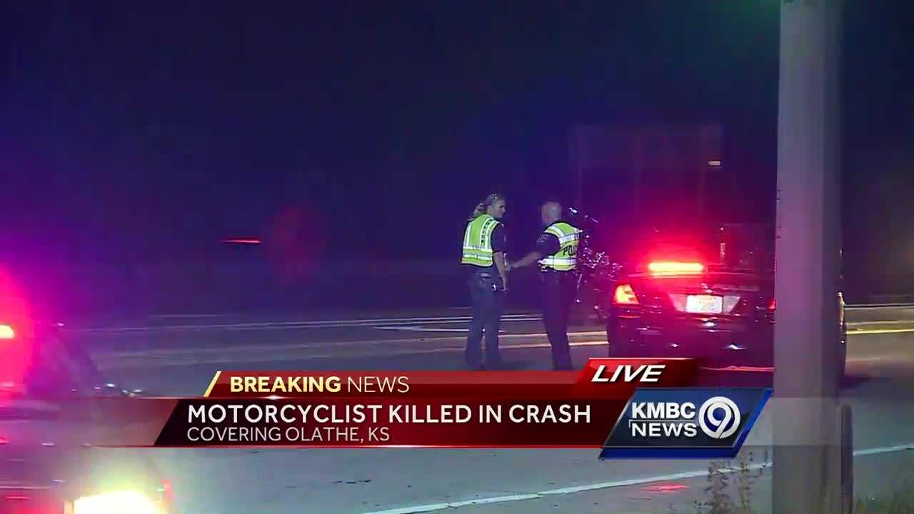 A 49-year-old motorcyclist was killed Saturday evening in a collision with a pickup truck on Kansas Highway 7 in Olathe.