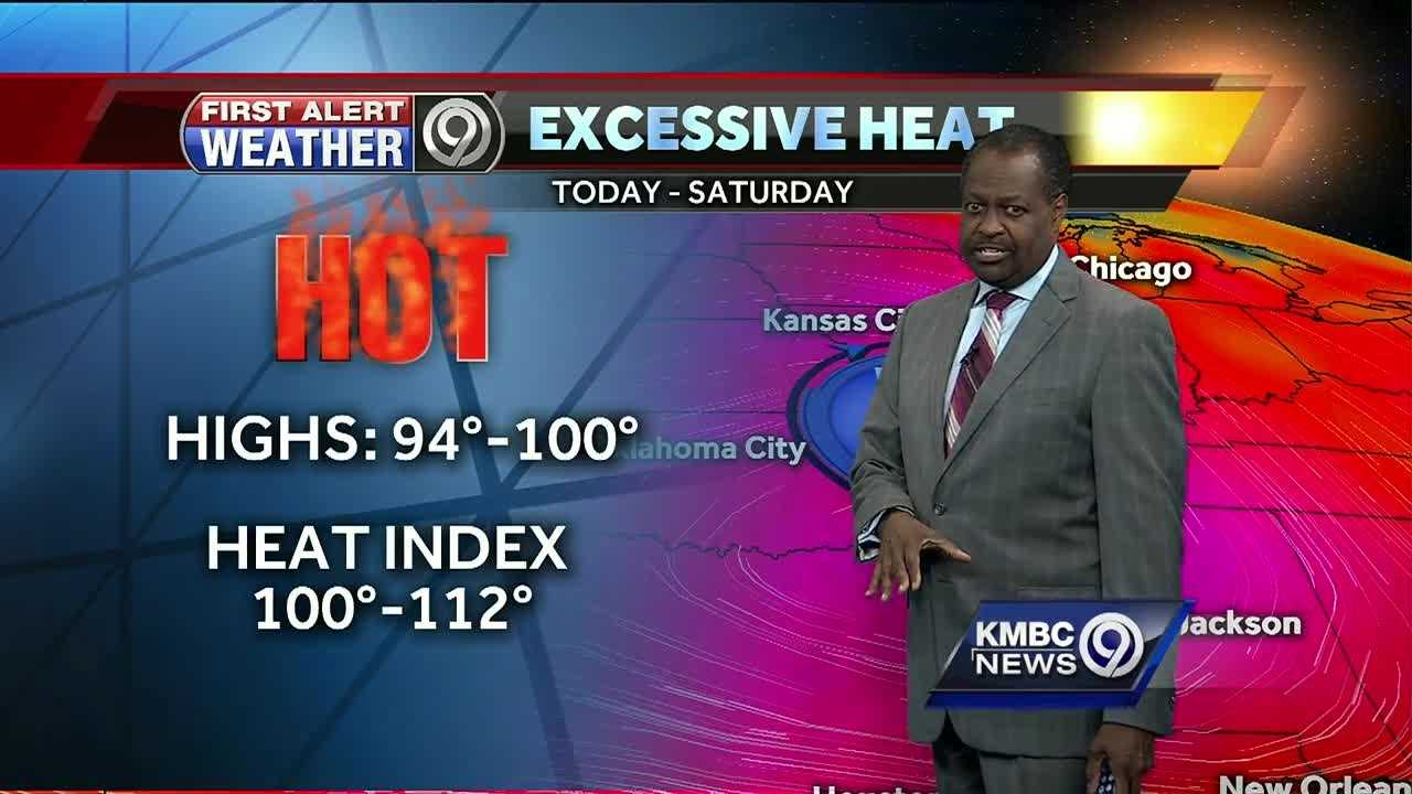 Excessive heat will be with us throughout the work week, with 90-degree temperatures and heat indicies expected to top 100.