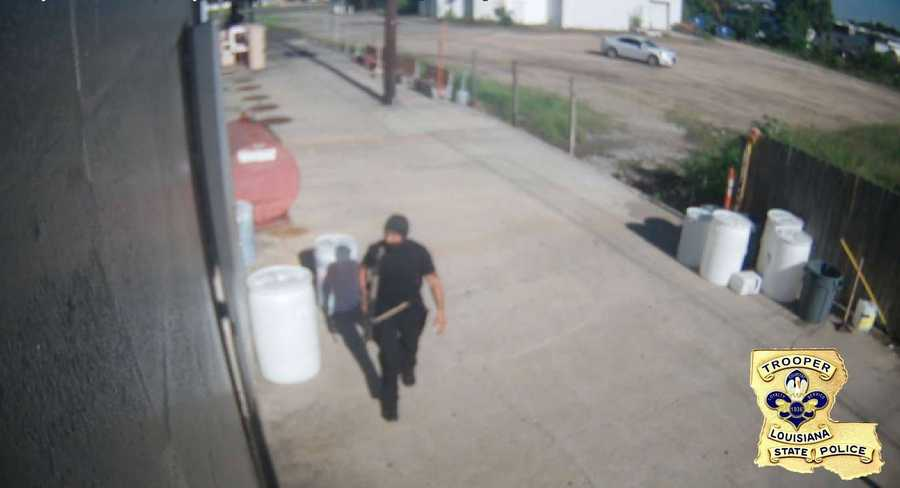 Gavin Long captured on a surveillance camera walking.