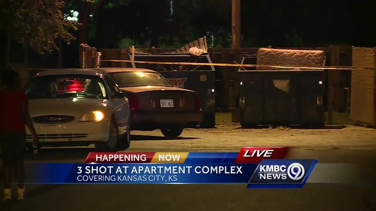 Three people have been injured, one critically, in a shooting at a Kansas City, Kansas apartment complex.