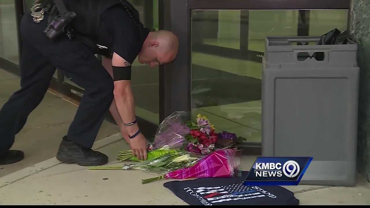 Many people brought gifts to the Kansas City, Kansas, Police Department on Tuesday, following the shooting death of Police Capt. Robert 'Dave' Melton.
