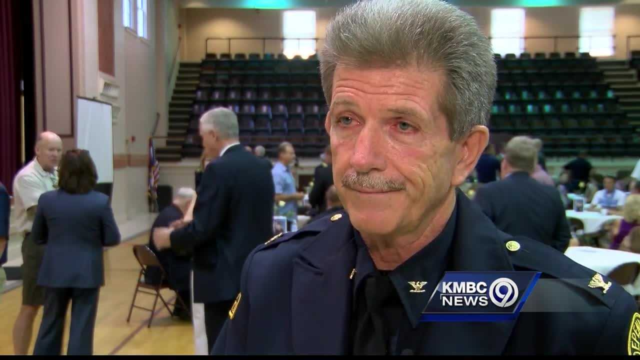 Independence police Chief Tom Dailey celebrated his retirement Thursday, capping a 37-year law enforcement career.