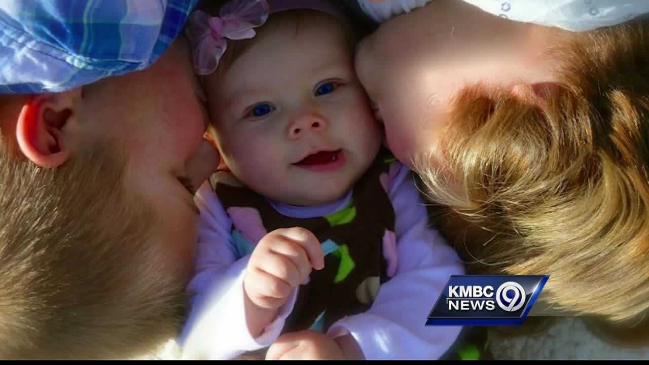 The community is rallying to support the family of a 14-month-old girl who died after being hit by a pickup truck Wednesday in Olathe.