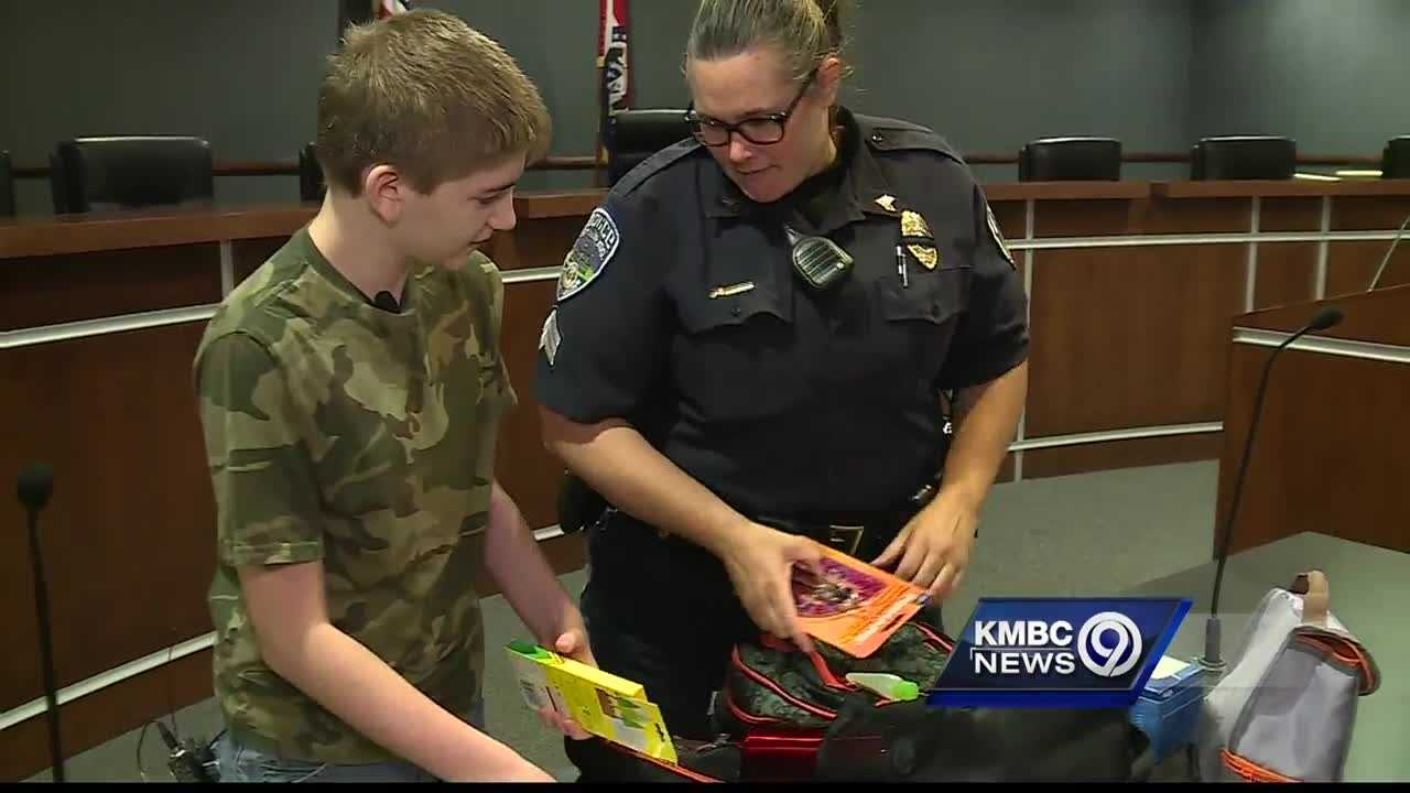 Children across the Kansas City metropolitan area are working to complete their back-to-school shopping lists this week, but in Parkville, the police department did the shopping for them.