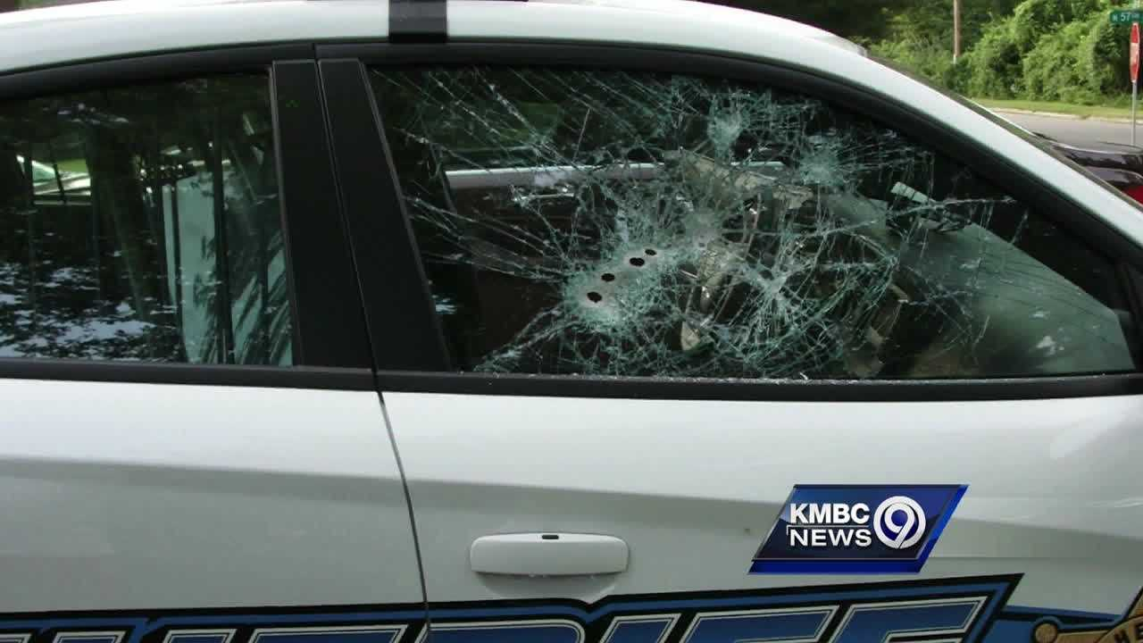 Several shots are fired early Wednesday into an unoccupied Wyandotte County sheriff's deputy's car.