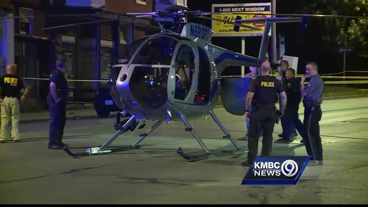 The Kansas City Police Department's helicopter was forced to make an emergency landing on a city street Wednesday night after a mechanical problem.