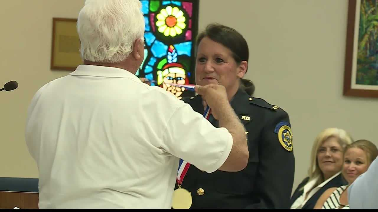 Two of Wyandotte County's finest were honored for their work Thursday evening.