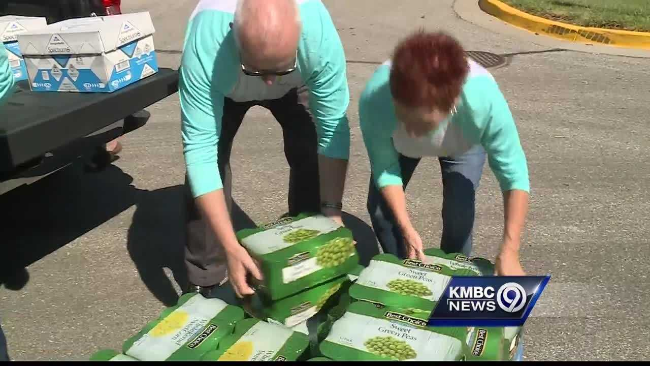 A Kansas City-area real estate company is helping to restock the shelves of Olathe's food pantry.