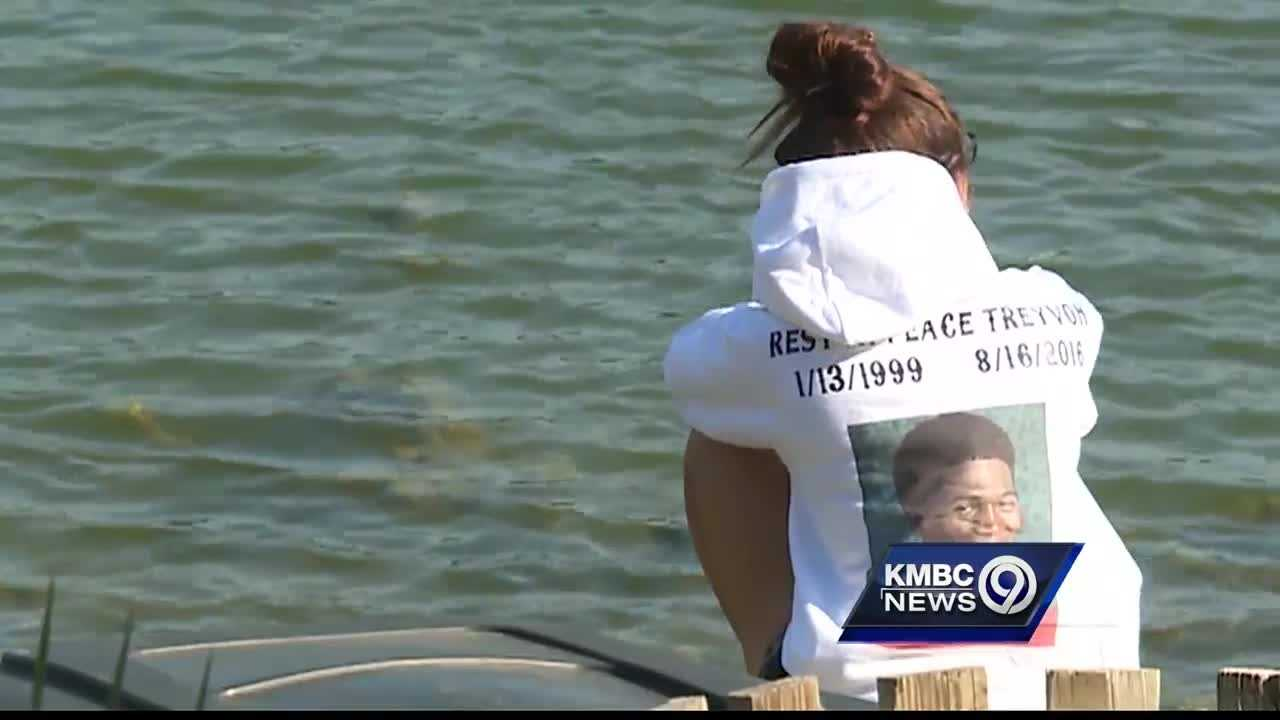 A large crowd came out to remember a Shawnee Mission Northwest High School senior who drowned while swimming in a neighborhood lake Tuesday night.