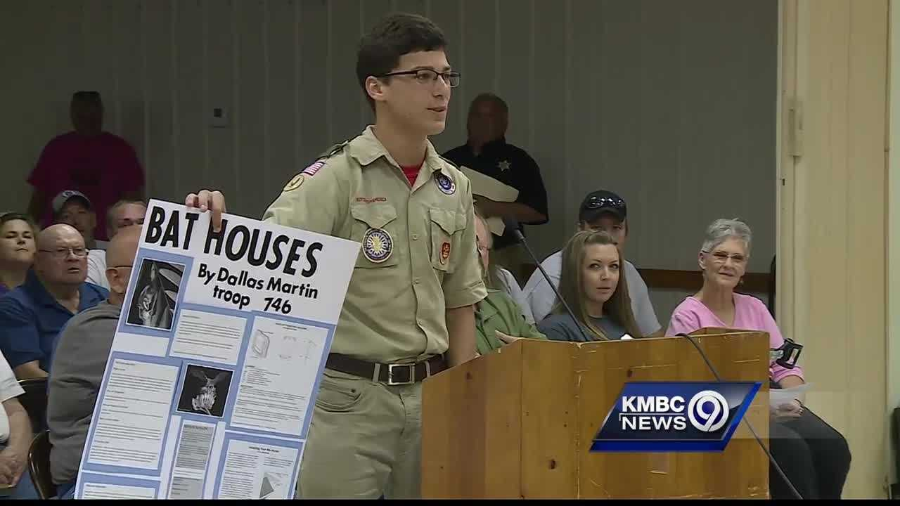 The Odessa Board of Aldermen meeting Monday night was certainly a tense one as residents clashed with city leaders who want to reorganize the Police Department. But one moment during the meeting brought everyone together to support one young man.