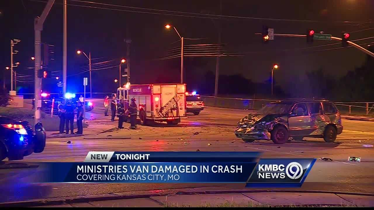 A crash in Kansas City Tuesday evening killed one person and seriously injured another. It also totaled the van used by Tabitha House Ministry.