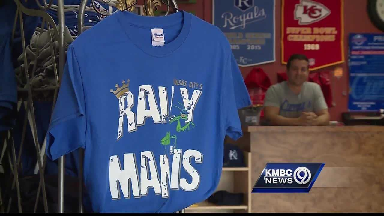 A praying mantis has not only inspired the Kansas City Royals to get back into the post-season chase, but it's also helping some local companies rake in some big money.