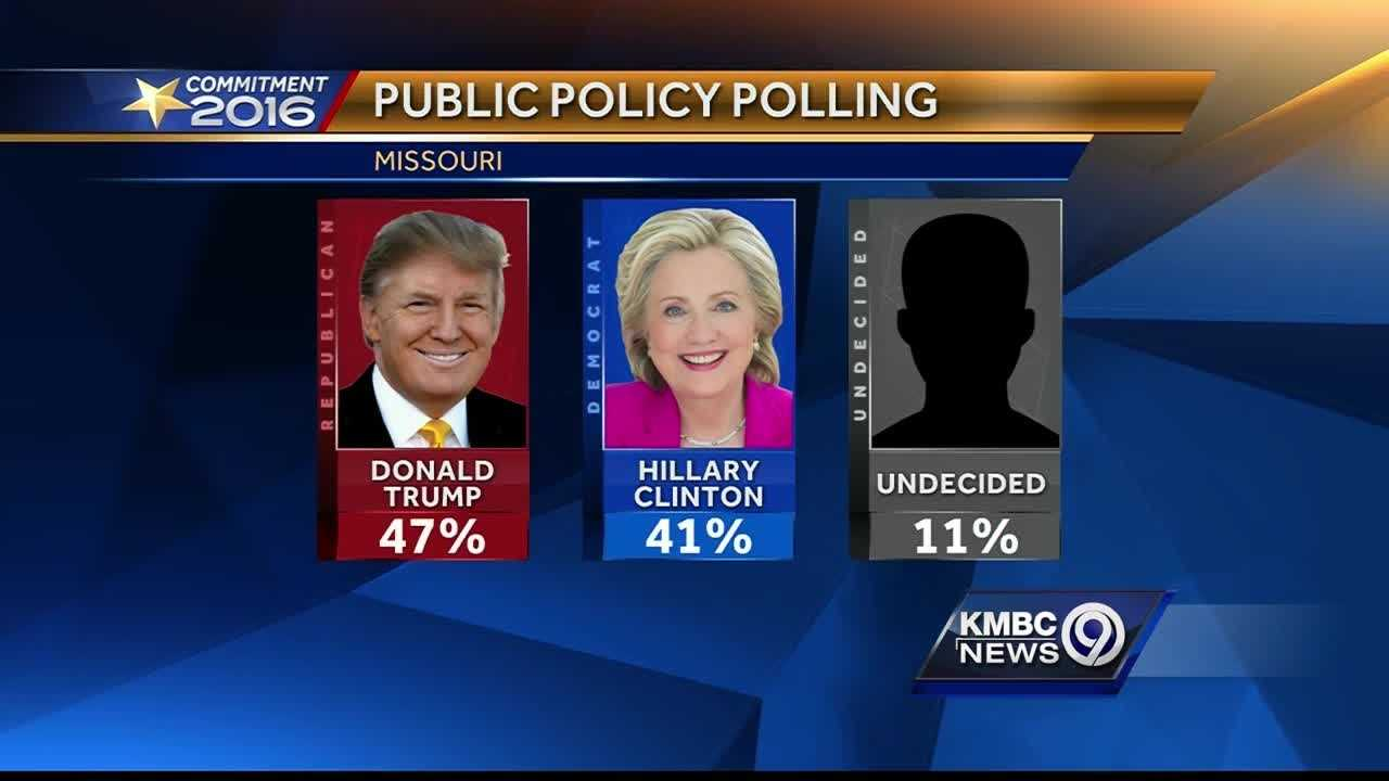 A new poll shows Donald Trump expanding his lead in Missouri, but incumbent Republican Sen. Roy Blunt continues to be in a close race for re-election.
